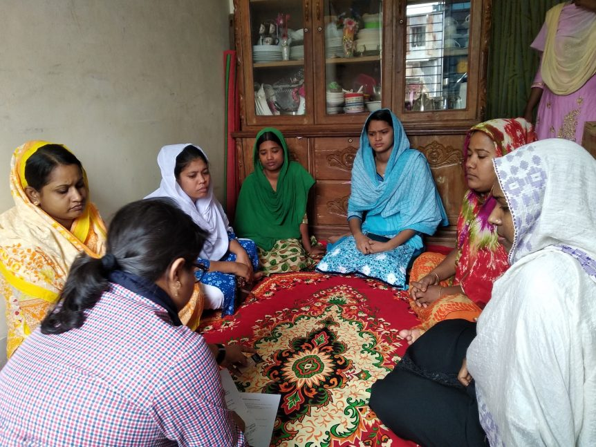 A focus group discussion with female garment factory workers. Photo credit: BizInsights